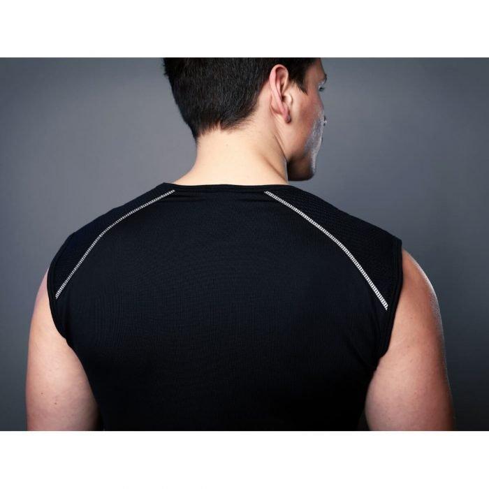 Heren Fitness Shirt Zwart Reflecterend