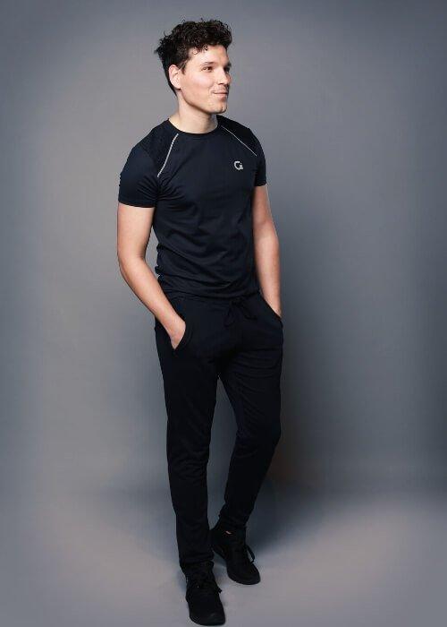 Heren sportkleding op maat, extra lange sportbroek