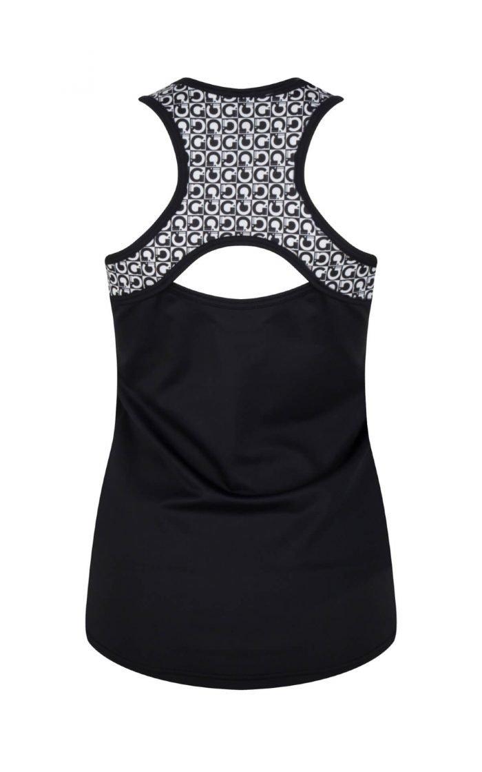 Dames Fitnesstop Zwart Print Gd31006pr