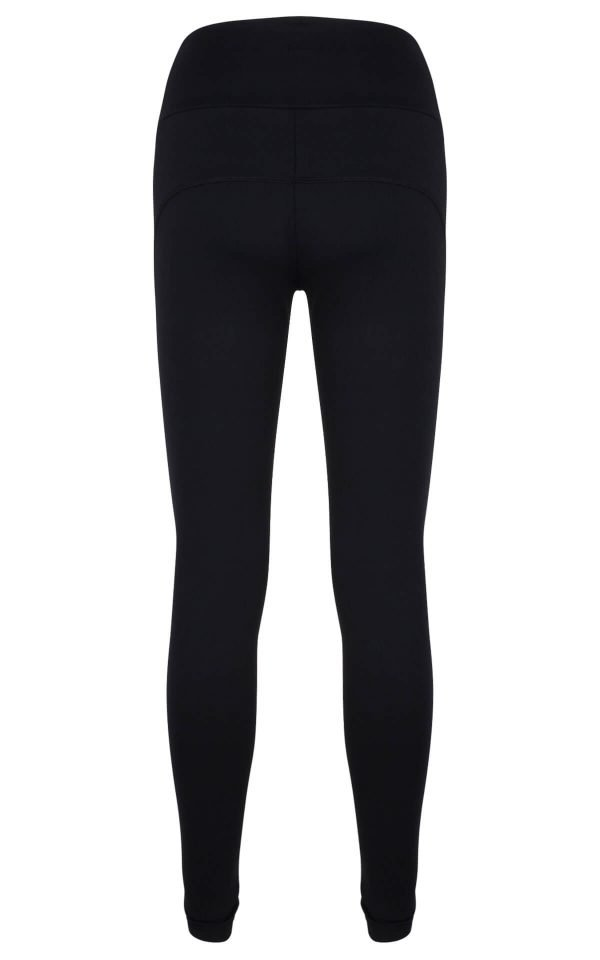 Dames hardloopbroek zwart supplex - GD11002