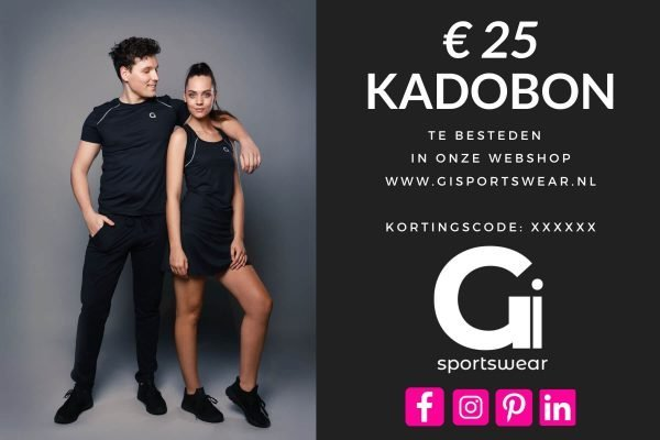 Gi Sportswear Kadobon 25 Euro.