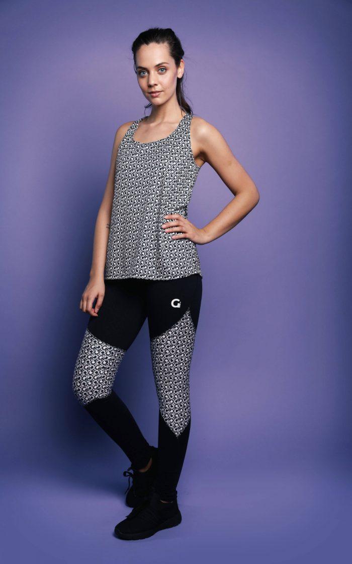 Hardloopbroek Dames Zwart Met Print G Sportswear